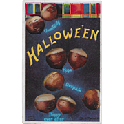 Vintage Halloween Postcard - Chestnuts - By Ellen Clapsaddle