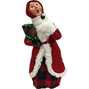 Christmas Byers Choice The Carolers - Woman in Red & White Santa Coat