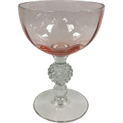 Elegant Glass 6 oz Pink Goblet Golf Ball By Morgantown #331