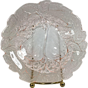Depression Glass Pink Avocado Bread & Butter Plate by Indiana Glass Co.