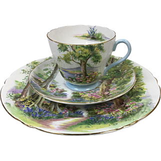 """Shelley Woodland Cup, Saucer and 8"""" Plate"""