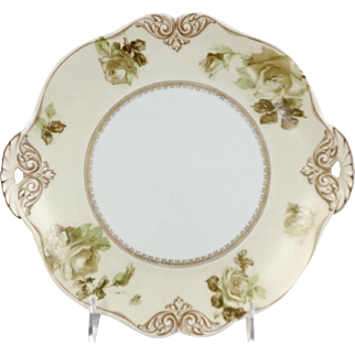 Old Ivory Empire Cake Plate