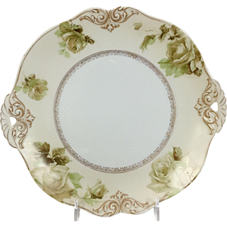 "Old Ivory 10"" Cake Plate #84"