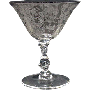 Rosepoint 6oz Goblet by Cambridge Glass