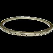 STERLING SILVER TAXCO MEXICAN BANGLE BRACELET MODERNIST 925 Silver BRACELET Tribal Design