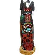 Vintage HOPI Cottonwood Hand Carved Intricate Kachina Corn Maiden Katsina Katsin Mana