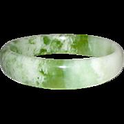 Vintage Green Jade Jadeite Bangle Bracelet
