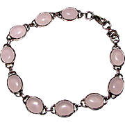 Deco Vintage Sterling Silver 925 Pink Moonstone Bracelet