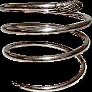 Taxco Mexican Sterling Silver 925 Serpent Snake Coil Bracelet Adjustable Bracelet