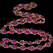 Vintage SWAROVSKI Purple Faceted Crystals Bezel Set Designer Necklace