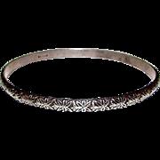 Native American Navajo Sterling Silver 925 Bangle Bracelet Tribal Design