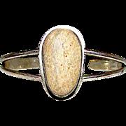 Old Pawn Native American Navajo Sterling Silver Quartzite Cuff Bracelet