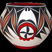 Vintage ACOMA Pueblo Pottery Collector Vase Signed D. Antonio