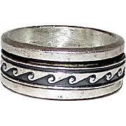 Native American Navajo Sterling Silver 925 Band Ring Band Size 10.5