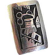 Native American Vintage HOPI Sterling Silver Kachina Ring Size 7 Rare