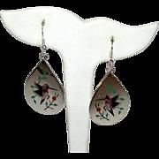 Vintage Native American Zuni Sterling Silver Stone Inlay Humming Bird Statement Pierced Dangle Earring by Raymond Boyd