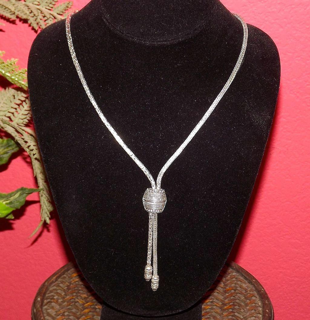 Elegant Vintage STERLING SILVER Necklace