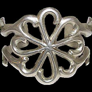NAVAJO Old Pawn Sandcast Sterling Silver Cuff Bracelet 55 grams
