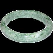 Vintage Moss On Snow Jade jadeite Bangle Bracelet