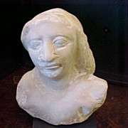 Ancient Egyptian Ptolemaic Marble Bust Statue   330-30 BC