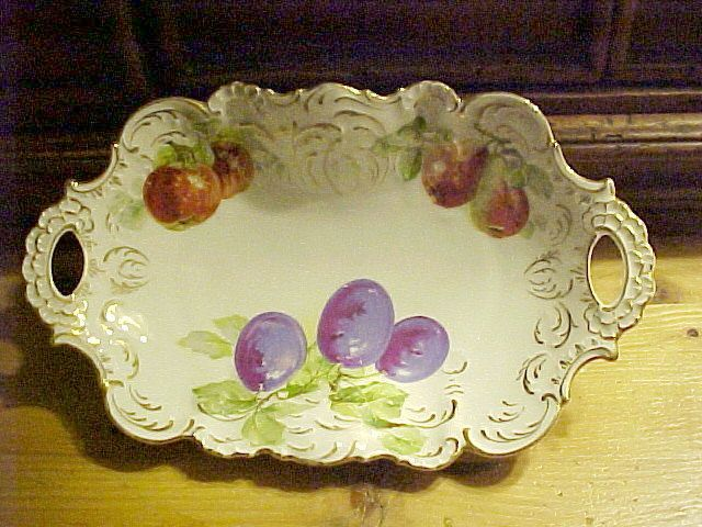 "Porcelain Bavarian Fruit Bowl, Late 19th C. ""J.S."" mark"
