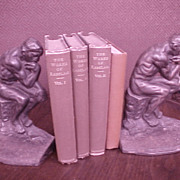 """Vintage Bookends """"The Thinker"""" 1927"""