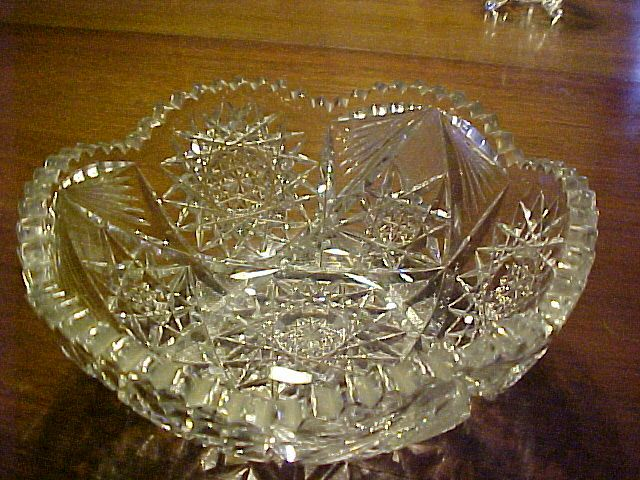 Cut Glass Bowl American Brilliant  C. 1900