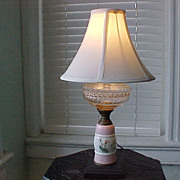 Table Lamp Hand-Painted C. 1840-50