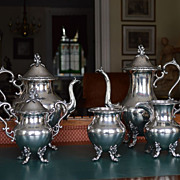 Silver 5 pc. coffee/tea service Goldfeder 1932-57 Yalesville CT
