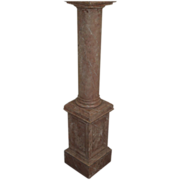 Pedestal faux marble old mahogany statue planter display