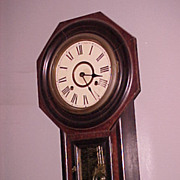 Octagon regulator wall clock  Seikosha C. 1900