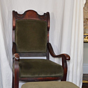 Art-Noveau Armchair & Footstool C. 1890