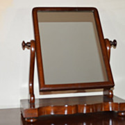 Early Victorian Shaving Mirror  C. 1840