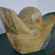 Abstract Mid-century Modern Stone Ashona Sculpture signed Chituanhike