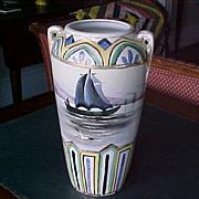 "Vase 10"" Royal Nippon Nishiki  marine scene 1906-21"