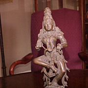 Saraswati Bronze Sculpture Hindu Goddess from S.E. India early 1900s