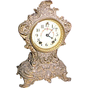 Baroque Gilded Mantel Clock C. 1900 Gilbert