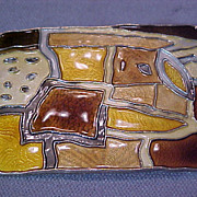 David Andersen Sterling Enamel Brooch Pin Mid Century Modernist Autumn Norway .925