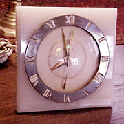 Deco 1930's Marble/brass Electric Alarm Clock