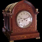 Massive Inlaid Edwardian Bracket Mantel Clock H & H  1901-10
