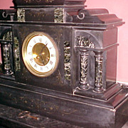French Marble Temple Mantel Clock C. 1870