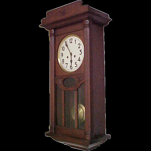 JUNGHANS German Regulator Wall Clock C1910 SOLD on Ruby Lane