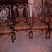 Chippendale Period (C. 1760) Mahogany Side Chairs (8)