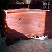 Blanket Chest original red paint Shenandoah dated 1877 Virginia