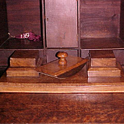 Desk Set European Burl late 1800's
