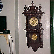 "German Regulator Wall Clock  ""Junghans"" late 1800's"