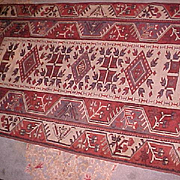 "Oriental Rug Turkish Melas 3'4"" X 6'3"" Semi-Antique"