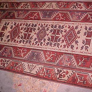 "Oriental Rug Turkish Melas 3'4"" X 6'3"" Semi-Antique"