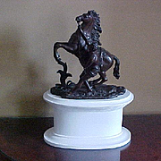 "19th C. Bronze Statue ""Cheval de Marly"" after Guillaume Cousteau (1677-1742)"