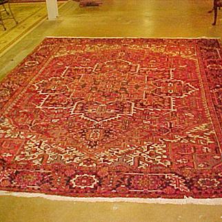 """Oriental Persian Rug Heriz 8'7"""" X 11'3'"""